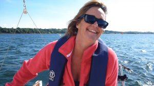 Jenny on the helm - crew